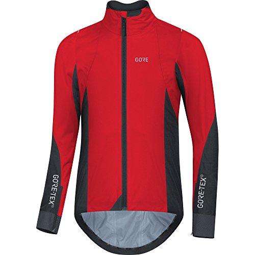 Gore Tex Performance Jacket - GORE Wear Men's Waterproof Cycling Jacket, C7 GORE-TEX Active Jacket, L, Red/Black, 100264