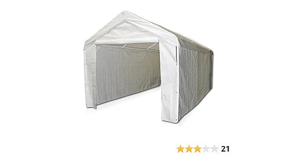 Amazon Com Domain Caravan Canopy 10 X 20 Carport Garage With Sidewall Enclosure Kit Garden Outdoor