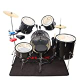 "FidgetFidget Clear Percussion Drumhead Drum Skin Set for 22"" 16"" 14"" 13"" 12"" Drum Props"