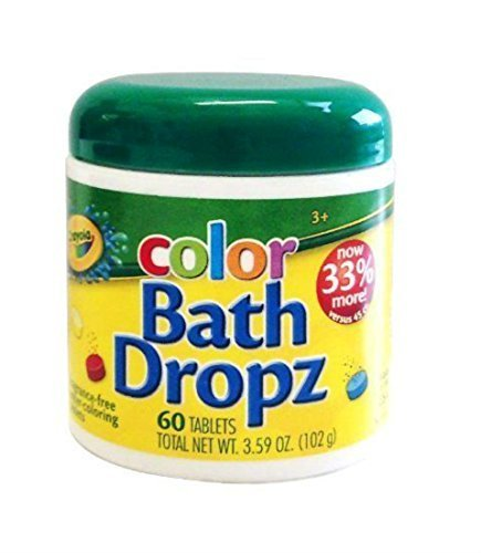 Crayola Bath Dropz 3.59 oz 60 Tablets B00009KWTB by Crayola (Large Image)
