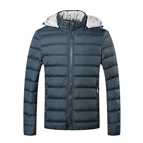 See Coat Collar Quilted Down Parked Rme Windproof Soft Blau Boy Detachable Leisure with Men's Waterproof Outdoor Thicken Winter Padded Jacket Hood Stand Warmth Clásico RxaqB8Zcfw