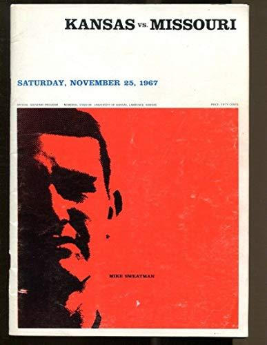 1967 Missouri Mizzou v Kansas Jayhawks Football Program Ex Memorial Stadium