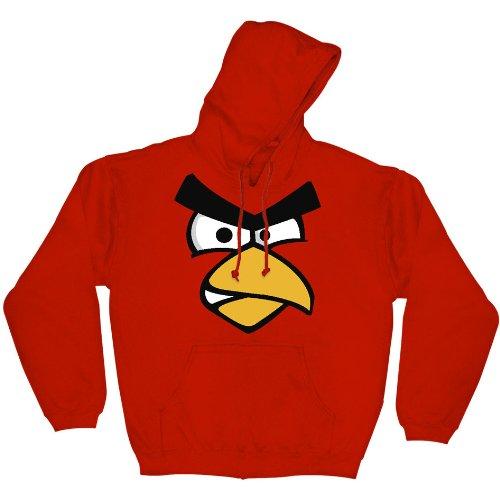 Angry Birds Red Face Men's Pullover Hoodie Sweatshirt, - Hoodie Birds