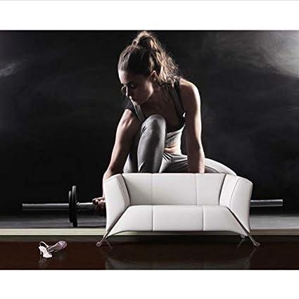 Wallpaper Fitness Mancuernas Fondo de pared 3D Wallpaper para ...