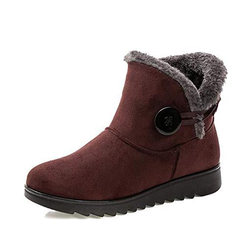 Brown US8   EU39   UK6   CN39 Brown US8   EU39   UK6   CN39 Women's shoes Fabric Winter Snow Boots Boots Flat Heel Booties Ankle Boots Black Brown   Wine