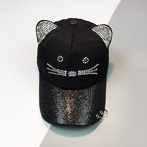 Amazon.com: ForShop Summer Cute Cat Ear Sequins Ring mesh Baseball caps Womens Adjustable Snapback Gorras Planas Hip hop Bone Casquette hat: Kitchen & ...