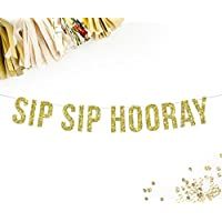 Sip Sip Hooray Party Banner | birthday bachelorette party photo booth prop