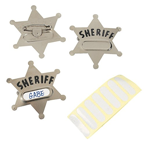 Fun Express Metal Sheriffs Badges
