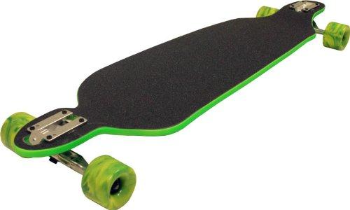 TGM Skateboards Green Double Drop Longboard Hybrid Thru and Down Shape 9.75 x 39.75
