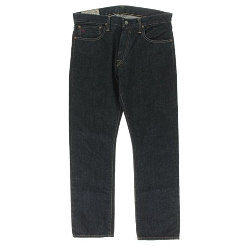 Lauren Straight Leg Jeans (Polo Ralph Lauren Mens Varick Dark Wash Slim Fit Straight Leg Jeans Blue 30/30)