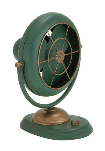 """Deco 79 97271 Metal Fan Decor Only Product, 11""""W/12""""H"""