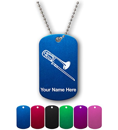 Military Style ID Tag - Trombone - Personalized Engraving Included