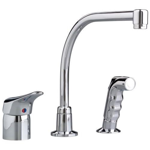american standard 2021831002 ceramix single control hi flow kitchen faucet chrome touch on kitchen sink faucets amazoncom. Interior Design Ideas. Home Design Ideas