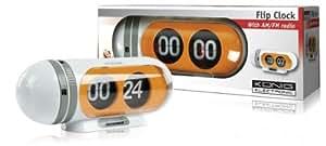 Konig - Radio despertador retro con números abatibles (importado)