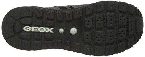 Geox J Pavel A - Zapatillas de cuero para niño Gris (c9002)
