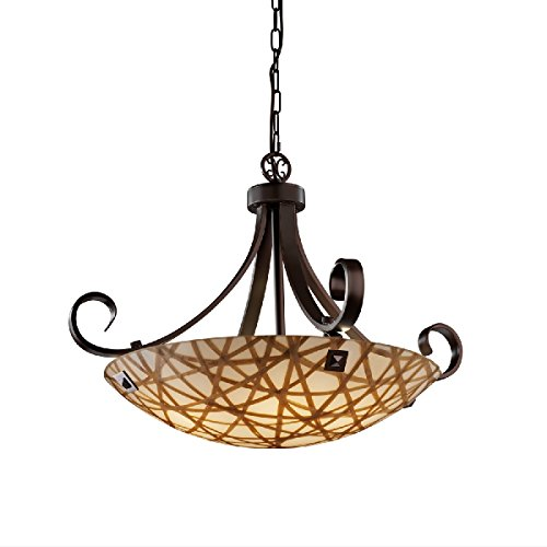 Justice Design Group Lighting 3FRM-9742-35-CONN-DBRZ-F4-LED5-5000 3form-Scrolls with Finials 31