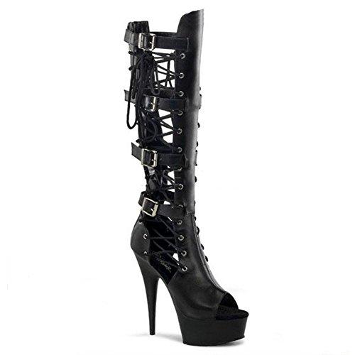 Play BLACK2 Super 39 piel de tacones modelo rendimiento hebilla largo Pole correas zapatos altos Dance sandalias botas discoteca 46 wdjjjnnnv Las BLACK1 mujeres 1pwqxAZ