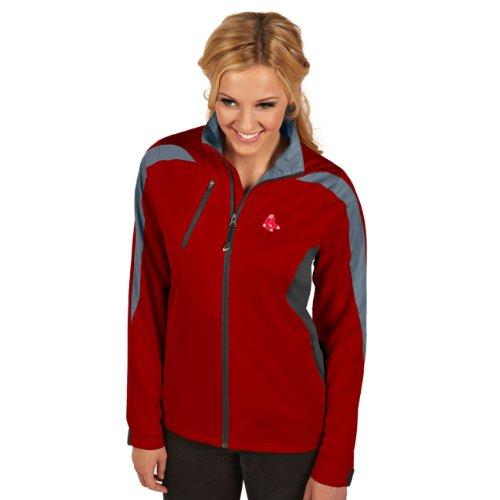 MLB Boston Red Sox Women's Discover Jacket, Dark Red/Smoke/Silver, (Sox Womens Jackets)