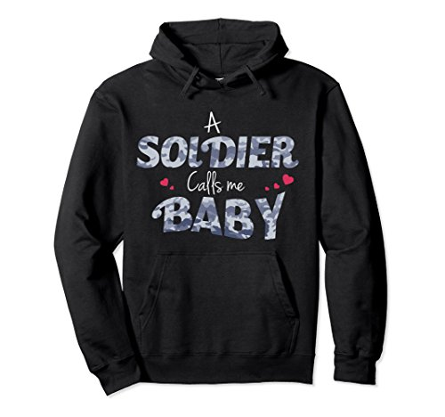 Unisex Army Girlfriend Hoodie For Proud Army Wives and Girlfriends Large Black