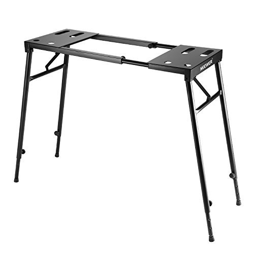 Piano Keyboard Table (Neewer Collapsible Piano Keyboard Stand for 61-key / 76-key / 88-key Keyboard with Adjustable Height from 25.6