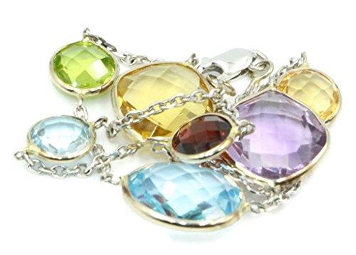 "Multi-Color Gemstone 8"" Bracel"
