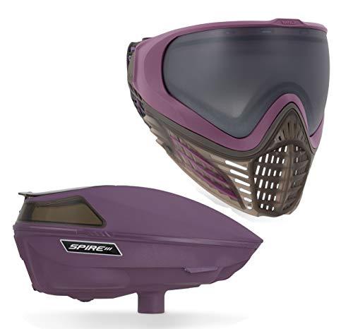 Virtue VIO Contour II Paintball Goggle and Spire III Paintball Loader Bundle - Dark Slate Purple ()