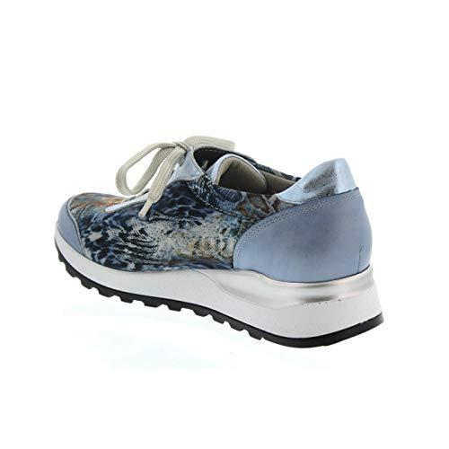 Mujer Zapatos Sky Cordones 320 Cuero 267 H64001 Waldläufer De Para Notte zwqt8WX