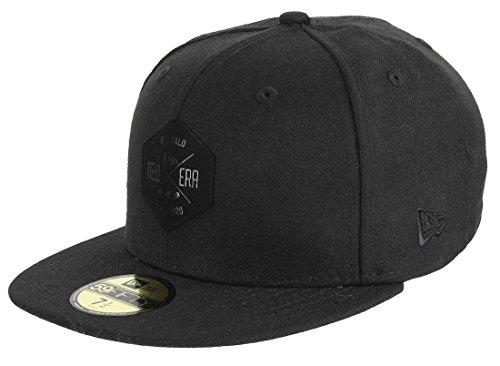 4575c4d06ef95 New Era 59fifty Basecap Hexagon Patch Black On Black - 7 1/2-60cm