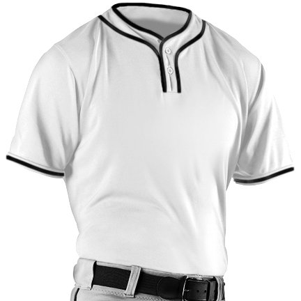 Alleson Athletic Men's Microfiber 2 Button Baseball Jerseys Large (Alleson Baseball Jersey)