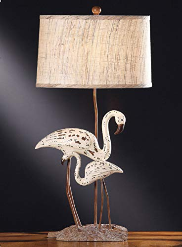 (Bella Coastal Decor Flamingo Accent Lamp - Overstock)