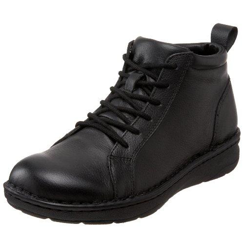 Chaussure Dessinée Jamie Botte Femme Noir Cuir Dégringolé
