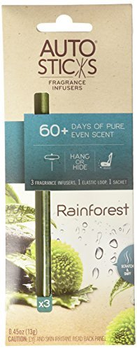 Freshener Rainforest Air (AutoSticks Rain Forest Air Freshener, 3 per Piece)