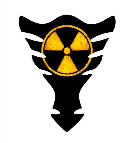 Motorcycle Radioactive gel Sportbike gas tank protector tankpad decal