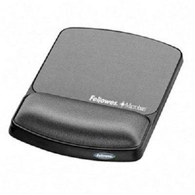 Fellowes Mouspad/Gel Wrist, w/ Microban, Black [Non - Retail Packaged] (9175101 Gel)
