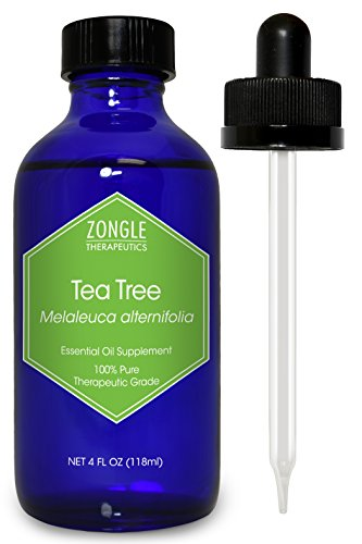 Zongle Tea Tree (Melaleuca) Oil, Australian, Safe To Ingest, 4 Oz