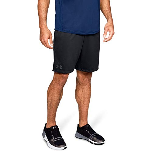 Under Armour mens MK1 Shorts, Black (001)/Stealth Gray, Large