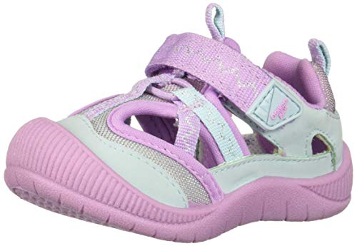 OshKosh B'Gosh Boys Kani Girl's Mesh Athletic Bumptoe Sneaker, Light Purple 12 M US Toddler