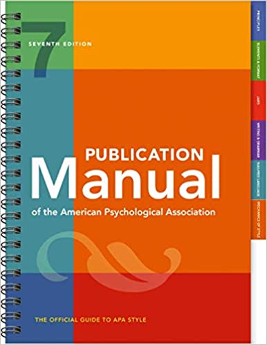Image of Publication Manual of the American Psychological Association Seventh Edition