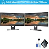 Dell UltraSharp 27 U2717D 27' 16:9 InfinityEdge IPS Monitor Set with Deluxe Cleaning Kit