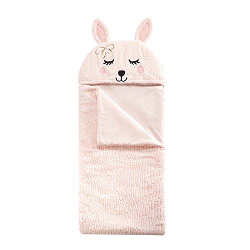 Heritage Kids Bunny Sleeping Bag, Pink/Purple, 26 x 60
