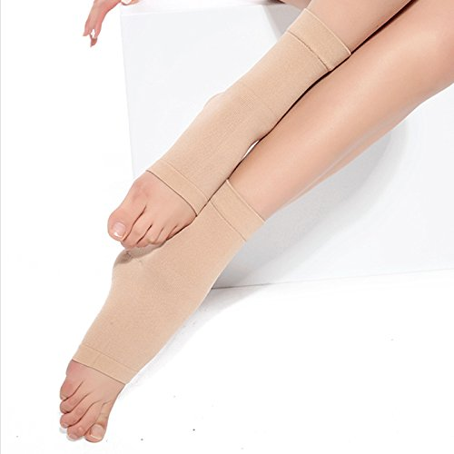 Pevor Ankle Foot Brace Compression Support Sleeve for Women and Men Sprains Strain Arthritis Weak Ankles Planter Fasciitis Good Protector Sleeve Apricot XL
