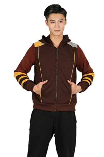 [Monster Hunter Hoodie Jacket Sweatshirt Costume for Adult Halloween Zip Up 3XL] (Monster Hunter Cosplay Costume)