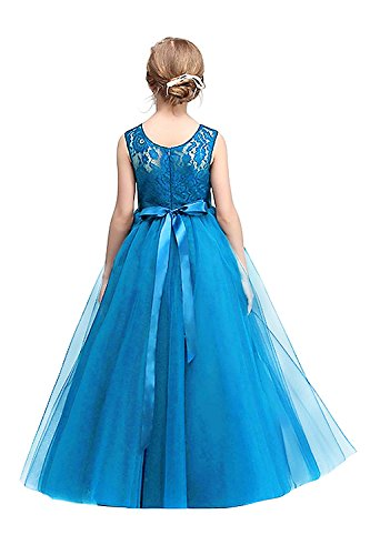 MisShow First Commuion Dresses Wedding Pageant Christening Dresses Sky Blue 140