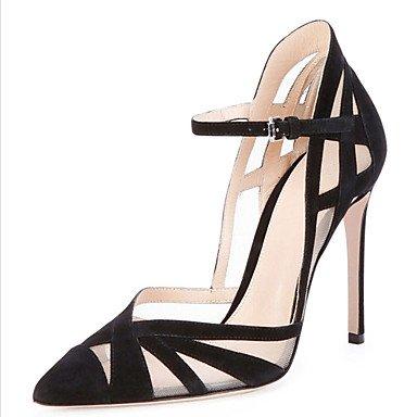 pwne Zapatos De Mujer Sandalias Comfort Polipiel Primavera Verano Otoño Office &Amp; Carrera Stiletto Talón Hebilla Casual Vestido Negro De Almendra 4A-4 3/4 Pulg. US6 / EU36 / UK4 / CN36