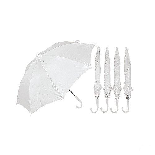 DIY White Umbrellas 12