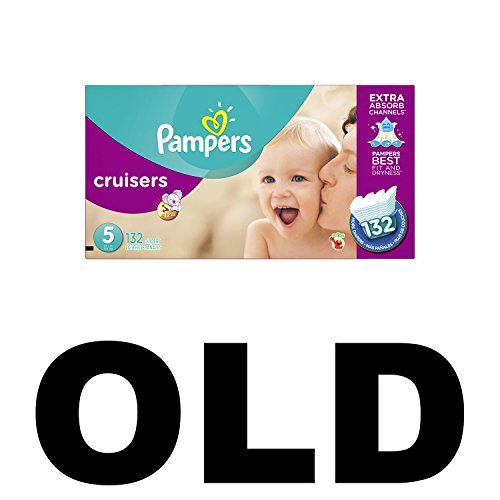 Pampers Cruisers Diapers Size 5 132 Count (old version) (Packaging May Vary) by Pampers (Image #1)