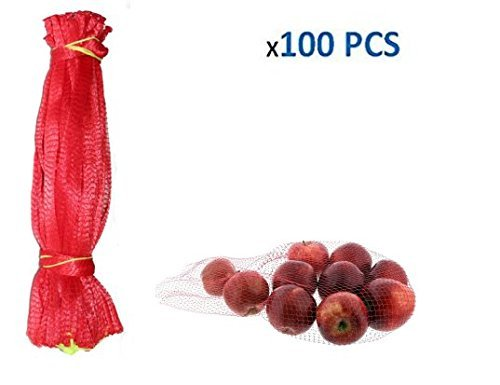 - jenifer2015 Reusable Produce Single Drawstring Mesh Bag / Plastic Mesh Produce and Seafood, 24