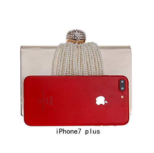 Negro Rojo BESTWALED al YHB443 Red 2 hombro para Bolso mujer xxqvYzw