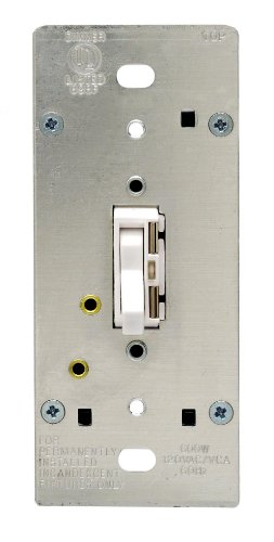 Leviton TGI06-1LW, ToggleTouch Preset Digital 600W Incandescent Dimmer, Single Pole and 3-Way, White