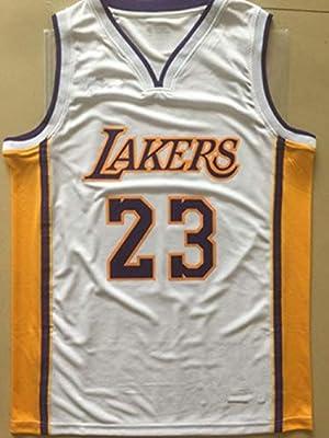official photos 6bc1e 7ae55 Lebron James No.23 Los Angeles Lakers V-Neck Hot-Press ...